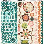 Bo Bunny Press - Olivia Collection - 12 x 12 Cardstock Stickers - Olivia Combo