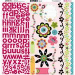 Bo Bunny Press - Petal Pushers Collection - 12 x 12 Cardstock Stickers - Petal Pushers Combo