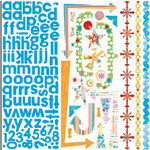 Bo Bunny Press - Popsicle Collection - 12 x 12 Cardstock Stickers - Popsicle Combo