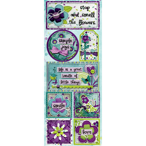 Bo Bunny Press - Peacock Lane Collection - Cardstock Stickers - Perfect Day