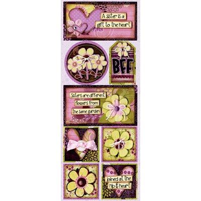 Bo Bunny Press - Jazmyne Collection - Cardstock Stickers - Pretty Sisters