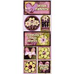 Bo Bunny Press - Jazmyne Collection - Cardstock Stickers - Pretty Sisters