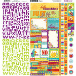Bo Bunny Press - Sun Kissed Collection - 12 x 12 Cardstock Stickers - Sun Kissed Combo