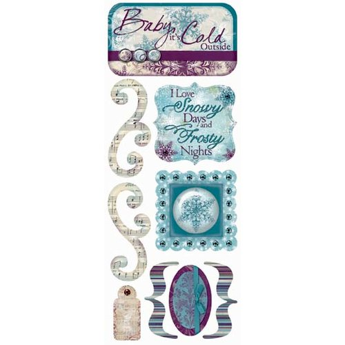Bo Bunny Press - Snowy Serenade Collection - Cardstock Stickers - Snowy Days