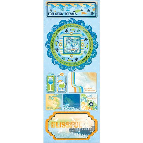 Bo Bunny - Barefoot and Bliss Collection - Cardstock Stickers - Splishin' and Splashin'