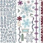 Bo Bunny Press - Snowy Serenade Collection - 12 x 12 Cardstock Stickers - Snowy Serenade Combo