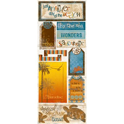 Bo Bunny Press - Paradise Collection - Cardstock Stickers - Sandy Toes