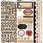 Bo Bunny - Timepiece Collection - 12 x 12 Cardstock Stickers - Timepiece Combo