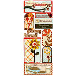 Bo Bunny Press - Kitchen Spice Collection - Cardstock Stickers - Time With Grandma, CLEARANCE
