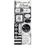 Bo Bunny Press - Enchanted Collection - Cardstock Stickers - True Love