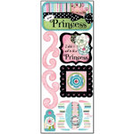 Bo Bunny Press - Alissa Collection - Cardstock Stickers - A True Princess