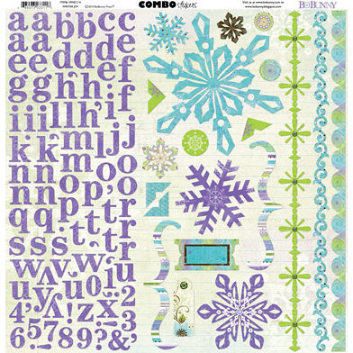 Bo Bunny Press - Winter Joy Collection - Christmas - 12 x 12 Cardstock Stickers - Winter Joy Combo