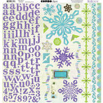 Bo Bunny Press - Winter Joy Collection - Christmas - 12 x 12 Cardstock Stickers - Winter Joy Combo