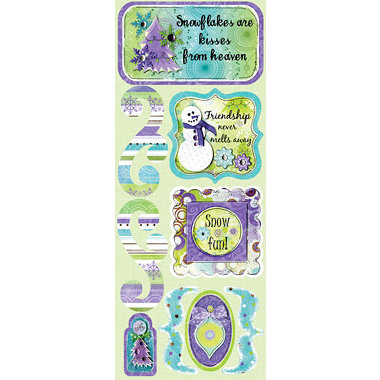 Bo Bunny Press - Winter Joy Collection - Christmas - Cardstock Stickers - Winter Whimsy