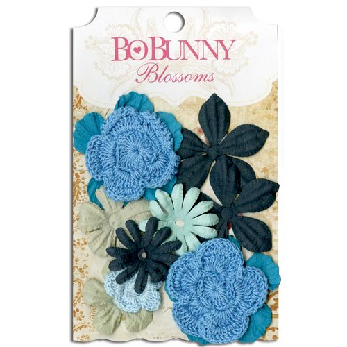 Bo Bunny - Blossoms - Bouquet - Denim Blue