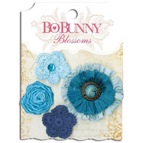 Bo Bunny - Blossoms - Dahlia - Denim Blue