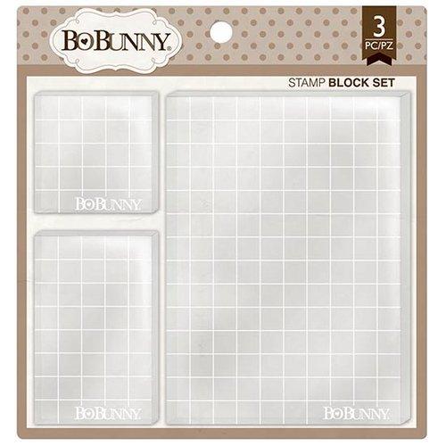 Bo Bunny - Clear Acrylic Stamp Block Set