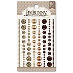 Bo Bunny - Double Dot Designs Collection - Bling - Jewels - Mocha