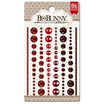 BoBunny - Double Dot Designs Collection - Bling - Jewels - Ruby Red