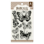 BoBunny - Clear Acrylic Stamps - Butterfly Kisses