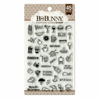 BoBunny - Clear Acrylic Stamps - Everyday Icons