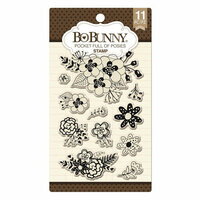 BoBunny - Clear Acrylic Stamps - Pocket Full Of Posies