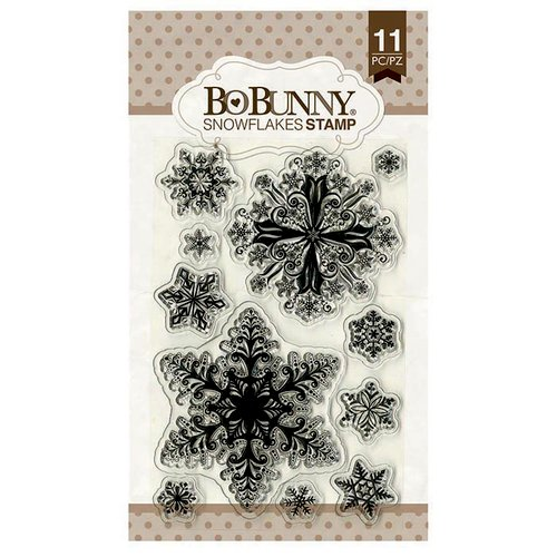BoBunny - Clear Acrylic Stamps - Snowflakes