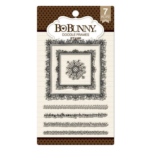BoBunny - Clear Acrylic Stamps - Doodle Frames
