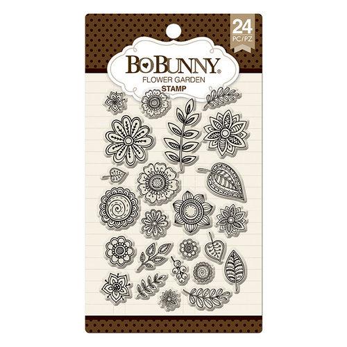 BoBunny - Clear Acrylic Stamps - Flower Garden