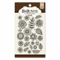 BoBunny - Clear Acrylic Stamps - Flower Garden