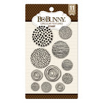 BoBunny - Clear Acrylic Stamps - Circular Textures
