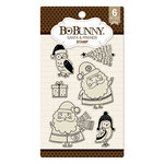 BoBunny - Clear Acrylic Stamps - Santa and Friends