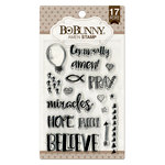 BoBunny - Clear Acrylic Stamps - Amen