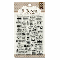 BoBunny - Clear Acrylic Stamps - Icons