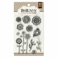 BoBunny - Clear Acrylic Stamps - Doodle Blooms