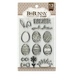 BoBunny - Clear Acrylic Stamps - Eggcellent