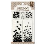 BoBunny - Clear Acrylic Stamps - I Heart Stars