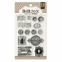 BoBunny - Clear Acrylic Stamps - Postale
