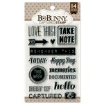 BoBunny - Clear Acrylic Stamps - Captured
