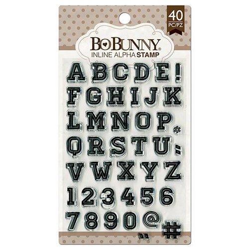 BoBunny - Clear Acrylic Stamps - Inline Alphabet