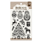 BoBunny - Christmas - Clear Acrylic Stamps - Feeling Festive