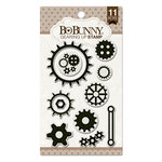 BoBunny - Clear Acrylic Stamps - Gearing Up