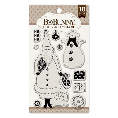 BoBunny - Christmas - Clear Acrylic Stamps - Holly Jolly