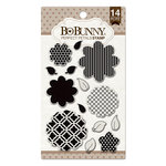 BoBunny - Clear Acrylic Stamps - Perfect Petals
