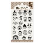 BoBunny - Clear Acrylic Stamps - Festive Emoji