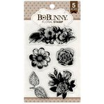 BoBunny - Clear Acrylic Stamps - Floral