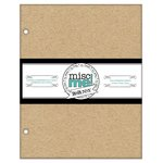 BoBunny - Misc Me Collection - 8 x 9 Chipboard Inserts
