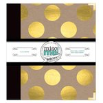 BoBunny - Misc Me Collection - 8 x 9 Binder - Gold and Kraft