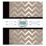 BoBunny - Misc Me Collection - 8 x 9 Binder - Silver and Kraft