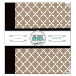 BoBunny - Misc Me Collection - 8 x 9 Binder - White and Kraft